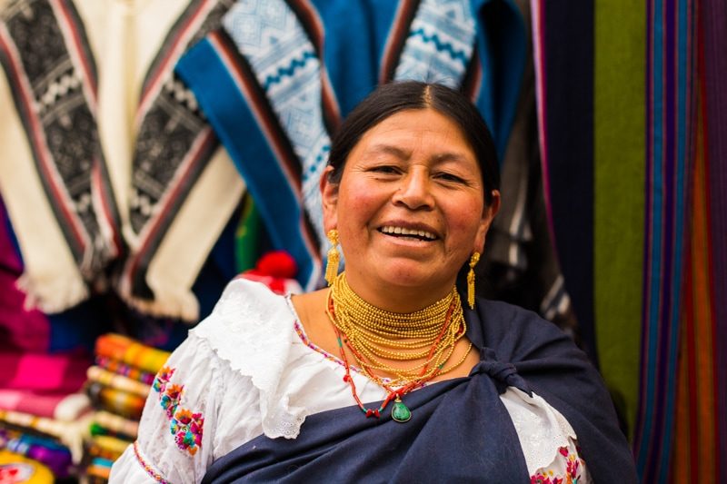 Woman in Otavalo Market