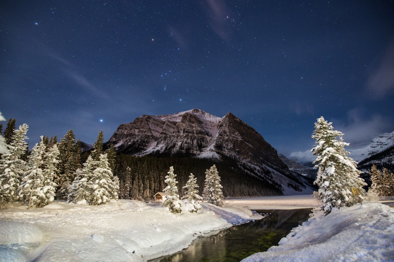 Lake Louise winter stars