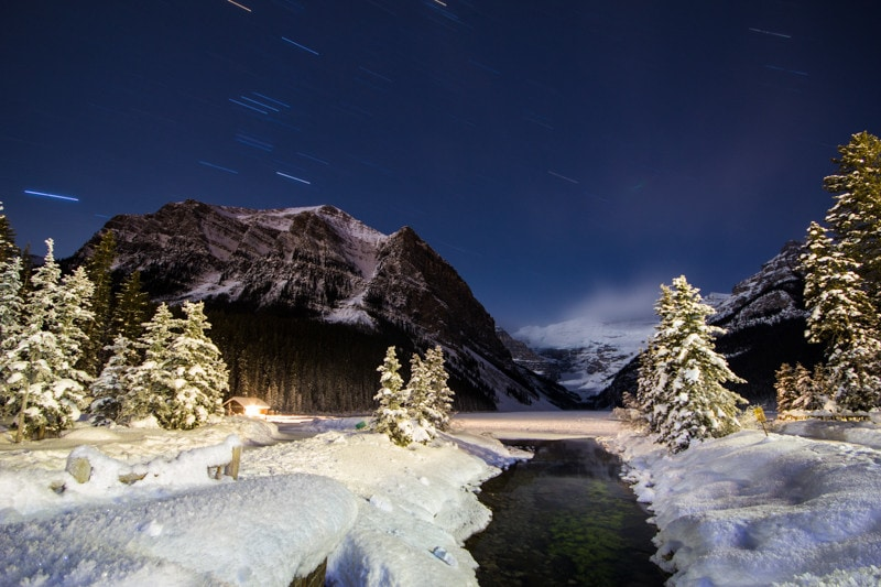Banff Night Photography, Lake Louise