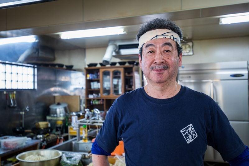 Ramen chef in Kamikawa, Hokkaido