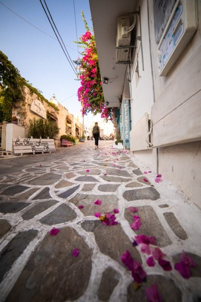 Wide angle street photography, naxos