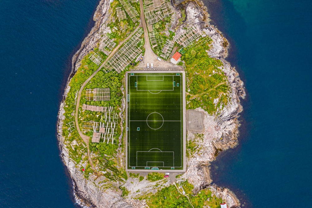 Henningsvær soccer field