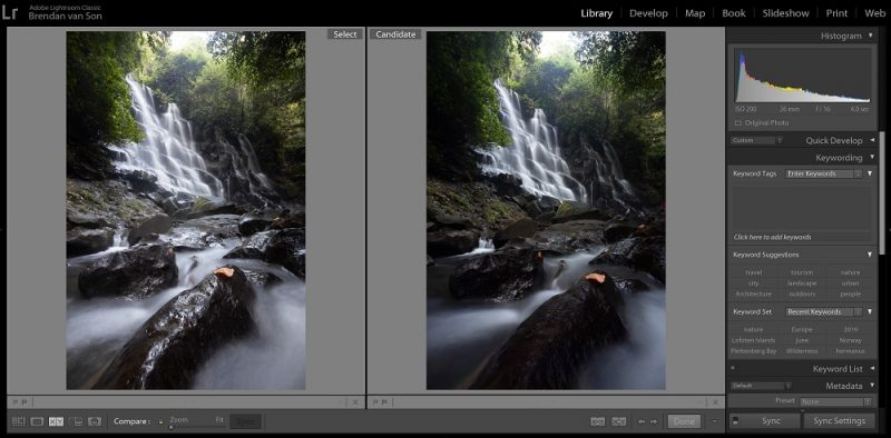 polarizer before and after