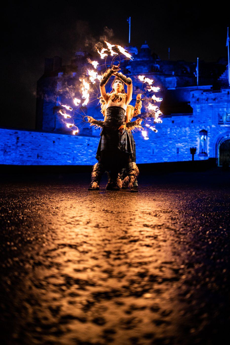 Hogmanay fire dancers